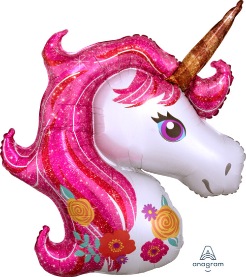 Magical Pink Unicorn Foil Balloon (33inch)