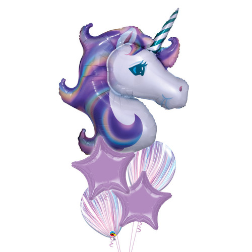 Pastel Unicorn Dream Balloons Bouquet