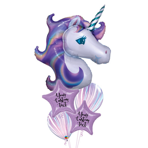 [Pastel Unicorn] Personalised Pastel Unicorn Dream Balloons Bouquet