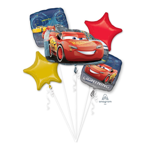 Cars Lightning McQueen Balloons Bouquet