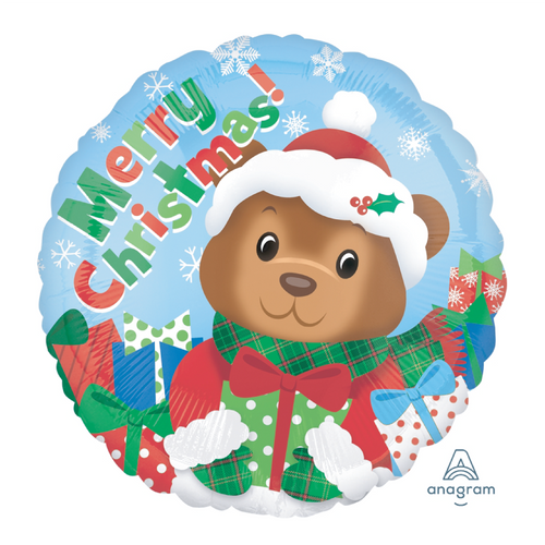 Christmas Bear Foil Balloon (18inch)