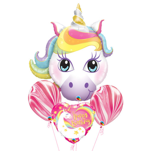 Magical Unicorn Birthday Balloons Bouquet