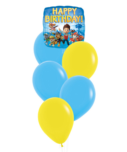 Paw Patrol Happy Birthday Balloons Cluster