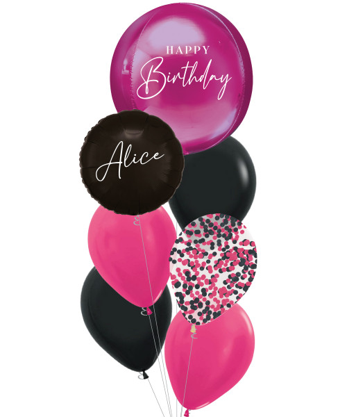 [Oliver Orbz] Personalised Oliver Orbz Balloons Bouquet - Bright Pink