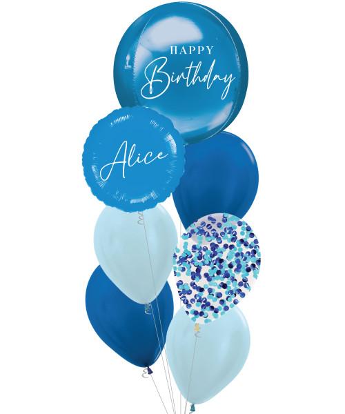 [Oliver Orbz] Personalised Oliver Orbz Balloons Bouquet - Blue