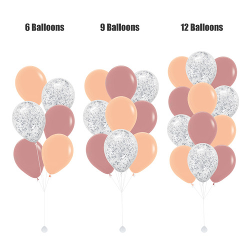 12'' Metallic Confetti Balloons Cluster - Fashion Color