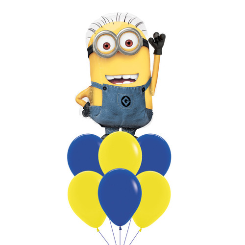 Minion Shaped Despicable Me Balloons Bouquet