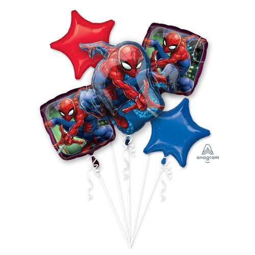 Spider-Man Balloons Bouquet
