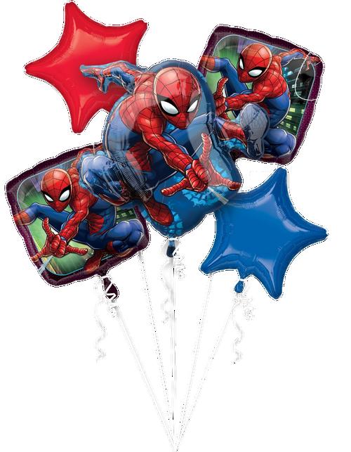 Spider-Man Balloons Bouquet