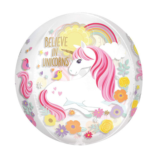 "16""/41cm Magical Unicorn Sphere Shaped Balloon(Front)"