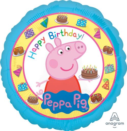 Peppa Pig Happy Birthday Foil Balloon (18inch)