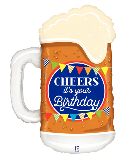 Cheers Birthday Beer Foil Balloon (34inch)