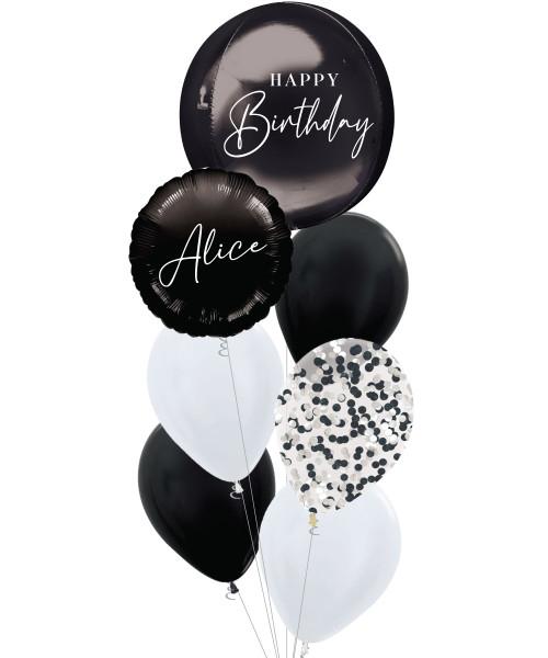 [Oliver Orbz] Personalised Oliver Orbz Balloons Bouquet - Black