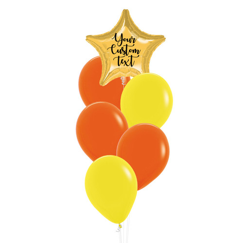Personalised You're A Star Balloons Cluster - Fashion Color