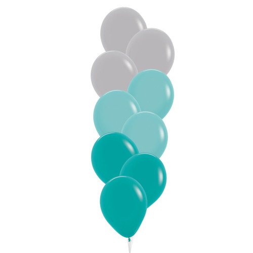 "(Create Your Own Helium Bouquet) 12"" Ombre Balloons Cluster  - Fashion Color"