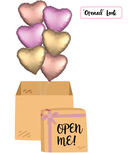 "[Balloon Surprise Box] 18"" Heart Foil Balloons (6pcs)"