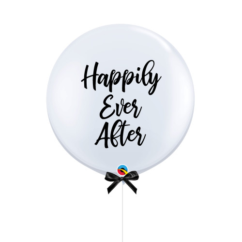 """36"""" Jumbo Happily Ever After Balloon (Bold Cursive Text Design)"""