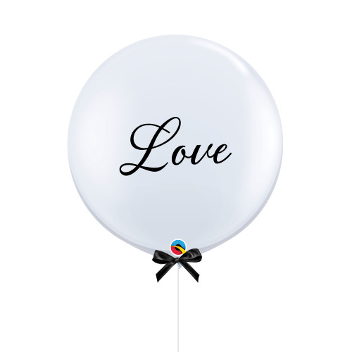 "36"" Jumbo Love Balloon (Fine Cursive Text Design)"
