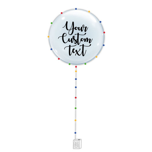 "24""  Personalised Confession Balloon 告白气球 with Colorful LED Lights"