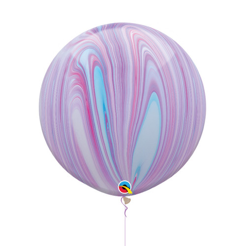 "30"" Jumbo Marble Pattern Latex Balloon - Unicorn Marble"