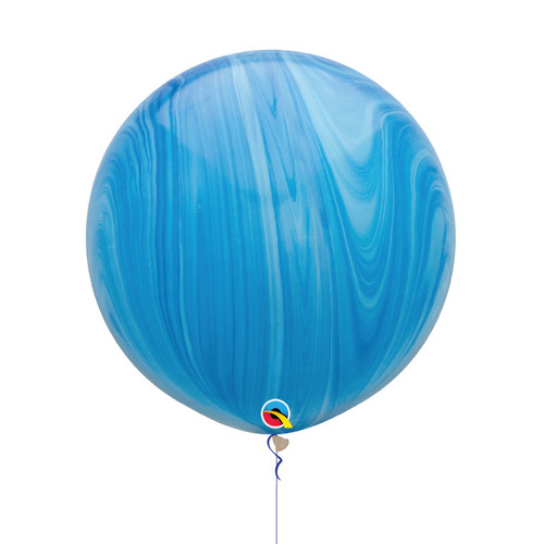 "30"" Jumbo Marble Pattern Latex Balloon - Ocean Marble"