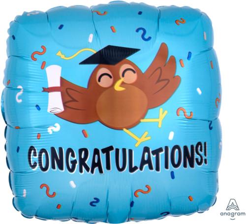 [Graduation] Congratulations Grad Owl Foil Balloon (17inch)