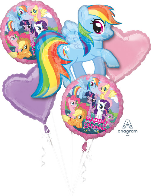 My Little Pony Birthday Balloons Bouquet