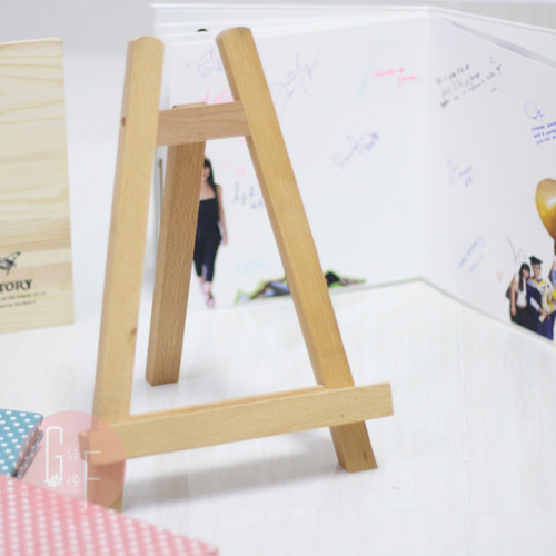 Solid Wooden Display Multi-Purpose Stand - Can be used to hold Posters, Photobook, Guestbook, Displays and others