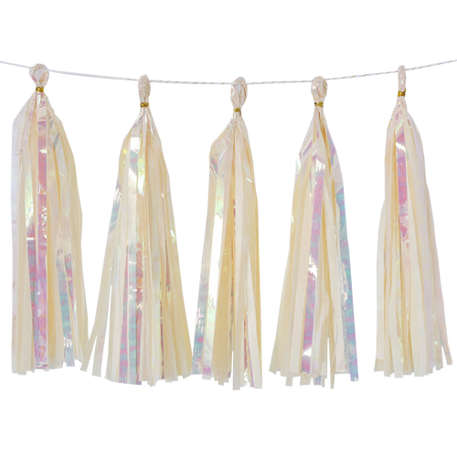 Holographic Candy Tassel Garlands DIY Kit (5 Tassels) - All Candy Cream