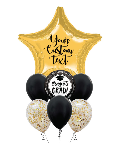 Personalised Grad You're A Star Balloons Bouquet