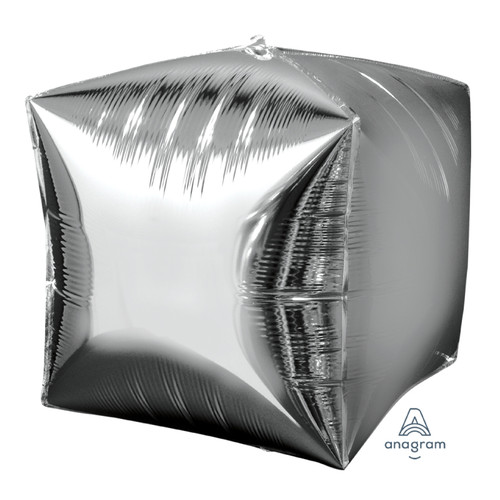 "[Cubez] 15""/38cm Cube Shaped Balloon - Silver"