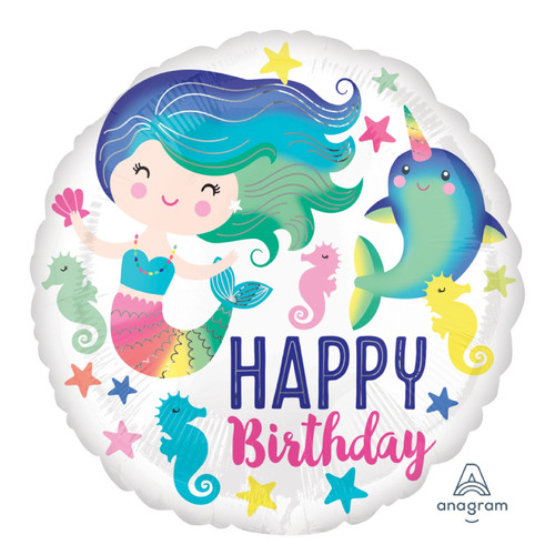 Colorful Ocean Fun HBD Foil Balloon (18inch)
