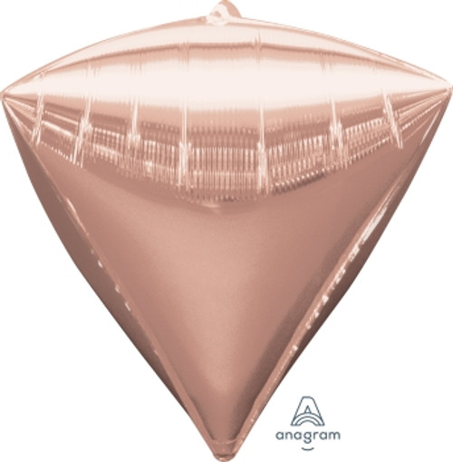 "[Diamondz] 17""/43cm Diamond Shaped Balloon - Rose Gold"