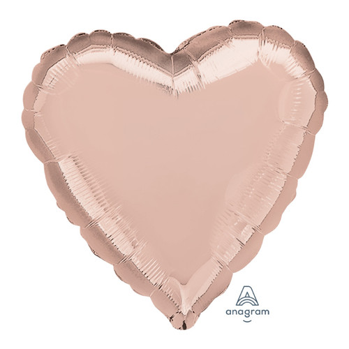 "18"" Heart Foil Balloon - Rose Gold"