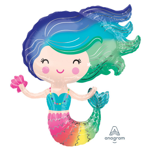 Colorful Mermaid Foil Balloon (30inch)