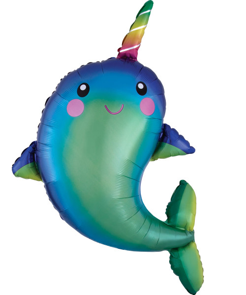 [Narwhal] Happy Narwhal Foil Balloon (39inch)