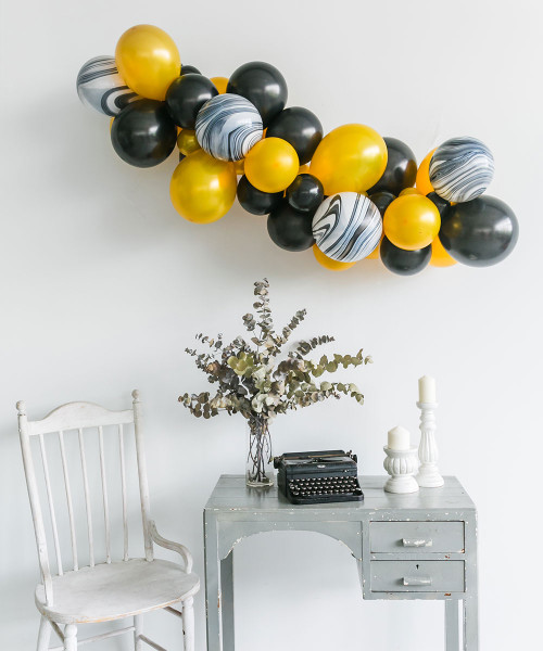 Create Your Own Marble Organic Balloon Garland - Metallic Color