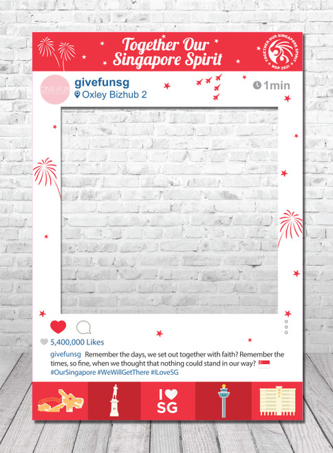 [Together, Our Singapore Spirit] Personalized National Day 2021 Instagram Frame - Together, Our Singapore Spirit