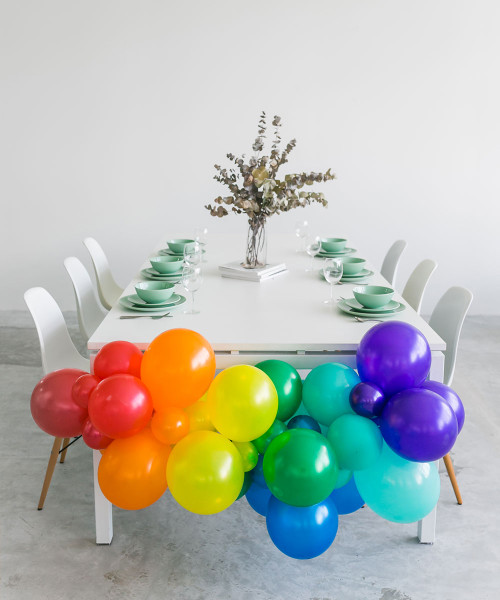 Create Your Own Vibrant Rainbow/Pastel Rainbow Organic Balloon Garland - Fashion/Metallic Color