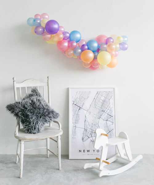 Create Your Own Mini Organic Balloon Garland - Metallic Color
