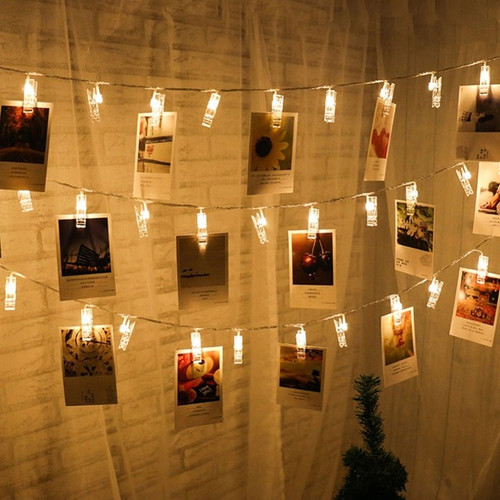 LED Photo Clips String Lights (3meter) - Warm Light