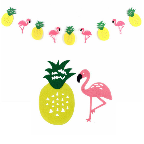 Hawaiian Tropical Garland (2.5meter) - Flamingo & Pineapple