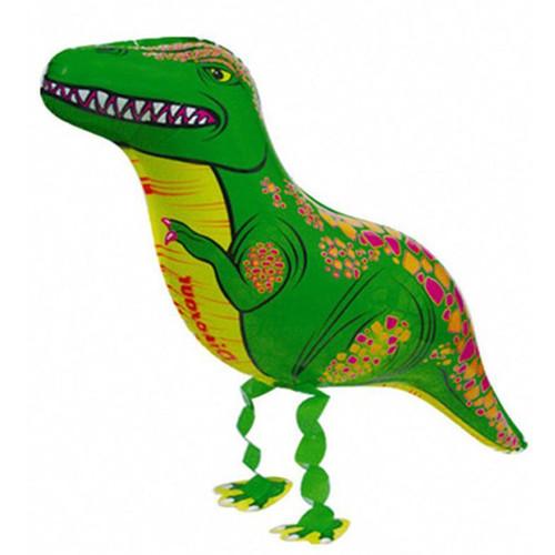 Walking Pet Balloon - T-Rex (Green)