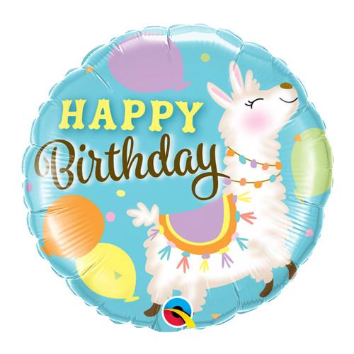 Birthday Llama Foil Balloon (18inch)