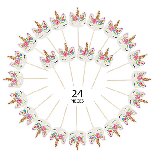Unicorn Cupcake Toppers (24pcs)