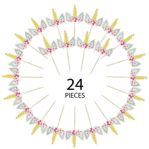 Dream Like A Unicorn Cupcake Toppers (24pcs)