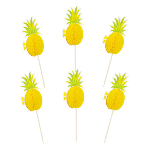 Pineapple Honeycomb Cupcake Toppers