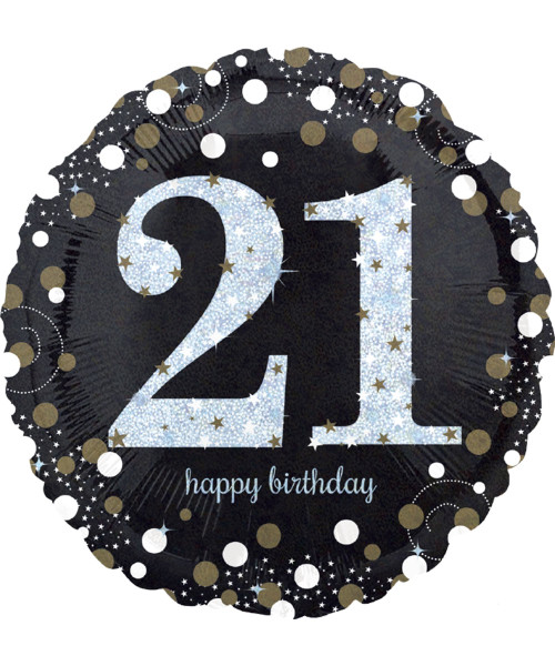 [Party] Sparkling Birthday 21 Foil Balloon (18inch) (A33238)