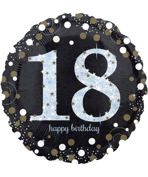 [Party] Sparkling Birthday 18 Foil Balloon (18inch) (A33239)