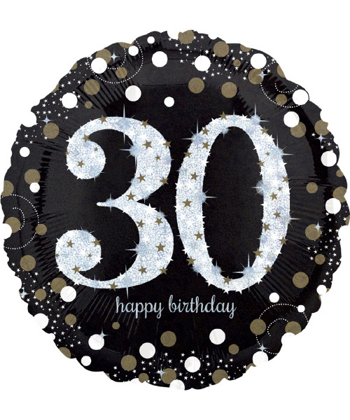 [Party] Sparkling Birthday 30 Foil Balloon (18inch) (A32129)